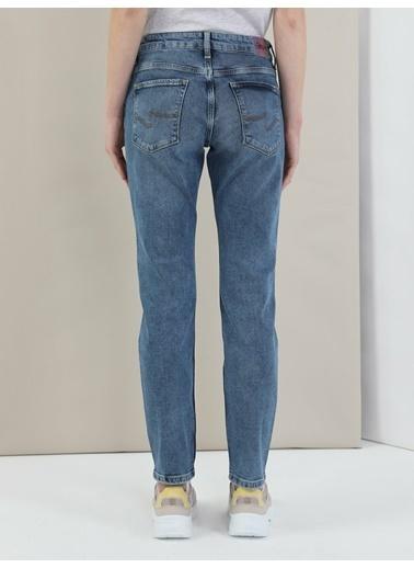 Colin's 891 Maya Orta Bel Daralan Paça Slim Fit Jean Kadın Jean Pantolon Lacivert